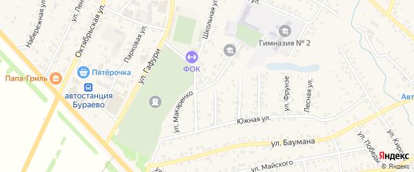 Улица Макаренко на карте села Бураево с номерами домов