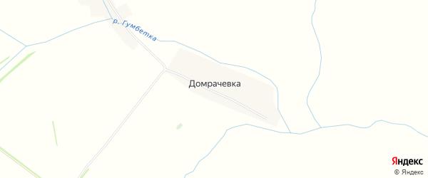 Карта деревни Домрачевки в Башкортостане с улицами и номерами домов