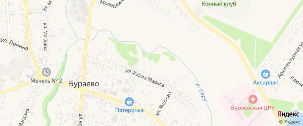 Магистральная улица на карте села Бураево с номерами домов