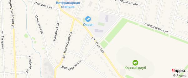 Улица Чкалова на карте села Бураево с номерами домов