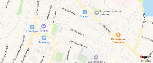 Улица М.Горького на карте села Бураево с номерами домов