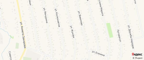 Улица Жукова на карте села Бураево с номерами домов