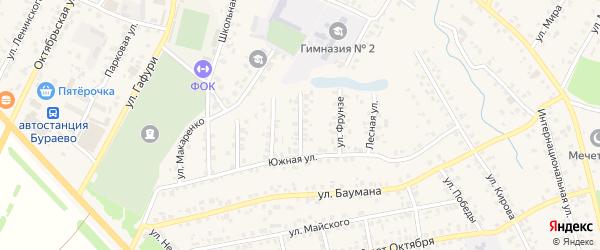 Улица Р.Зорге на карте села Бураево с номерами домов