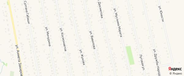 Улица Вавилова на карте села Бураево с номерами домов