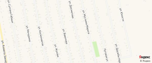 Улица Дюсметова на карте села Бураево с номерами домов