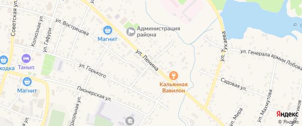 Улица Матросова на карте села Бураево с номерами домов