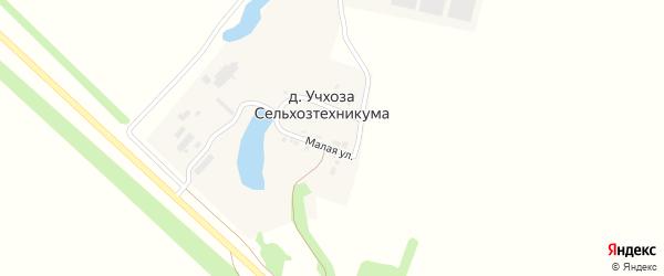 Малая улица на карте деревни Учхозы сельхозтехникумы с номерами домов
