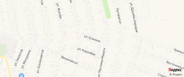 Улица Есенина на карте села Бураево с номерами домов