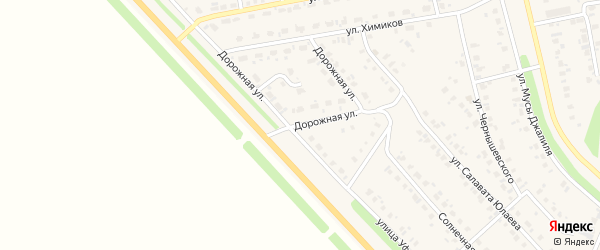 Дорожная улица на карте села Бураево с номерами домов