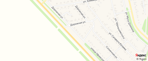 Улица Уфимское шоссе на карте села Бураево с номерами домов