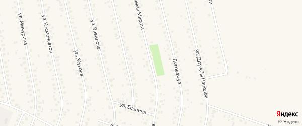 Улица Муслима Марата на карте села Бураево с номерами домов