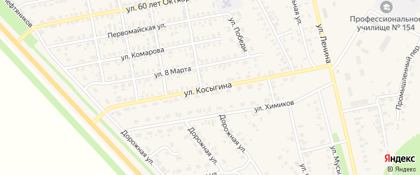 Улица Косыгина на карте села Бураево с номерами домов