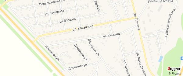 Улица Химиков на карте села Бураево с номерами домов