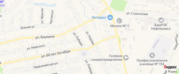 Улица Кирова на карте села Бураево с номерами домов