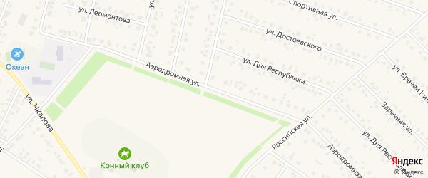 Аэродромная улица на карте села Бураево с номерами домов