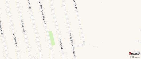 Улица Дружбы народов на карте села Бураево с номерами домов