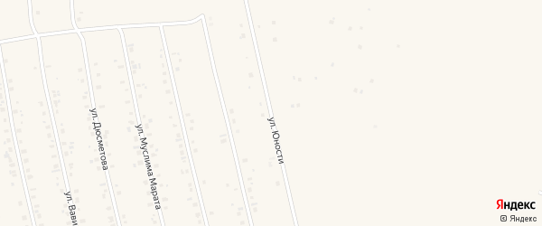 Улица Юности на карте села Бураево с номерами домов