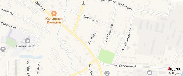 Улица Мира на карте села Бураево с номерами домов