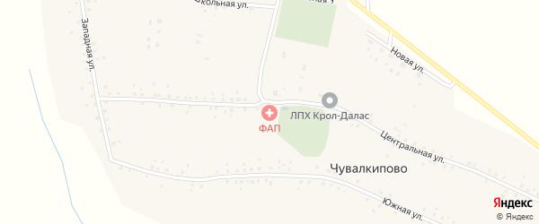 Западная улица на карте села Чувалкипово с номерами домов