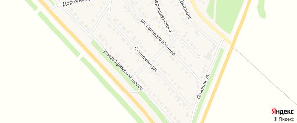 Солнечная улица на карте села Бураево с номерами домов
