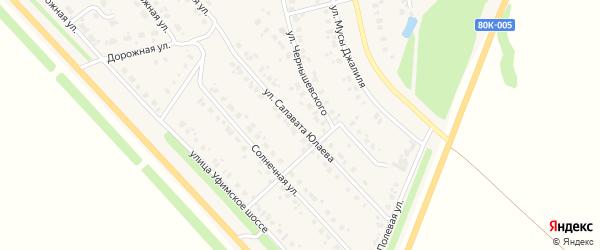 Улица С.Юлаева на карте села Бураево с номерами домов