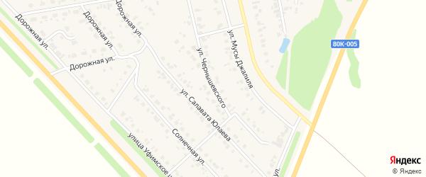 Улица Чернышевского на карте села Бураево с номерами домов