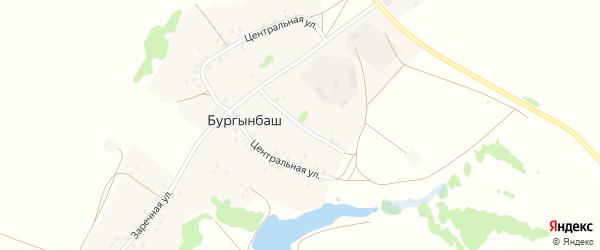 Улица С.Камаловой на карте деревни Бургынбаша с номерами домов
