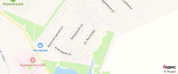Улица Аксакова на карте села Бураево с номерами домов
