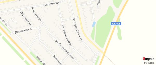 Улица М.Джалиля на карте села Бураево с номерами домов