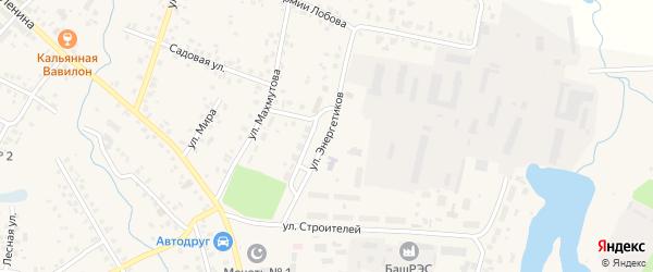 Улица Энергетиков на карте села Бураево с номерами домов