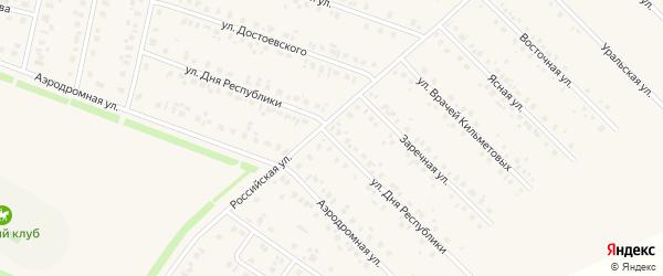 Улица Дня Республики на карте села Бураево с номерами домов