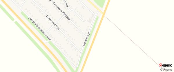 Полевая улица на карте села Бураево с номерами домов