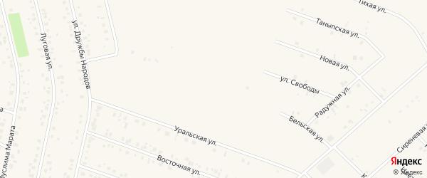 Бельская улица на карте села Бураево с номерами домов