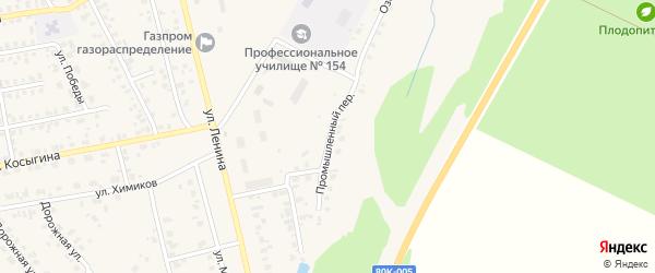 Промышленный переулок на карте села Бураево с номерами домов