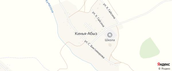 Улица 40 лет Победы на карте деревни Киньи-Абыз с номерами домов