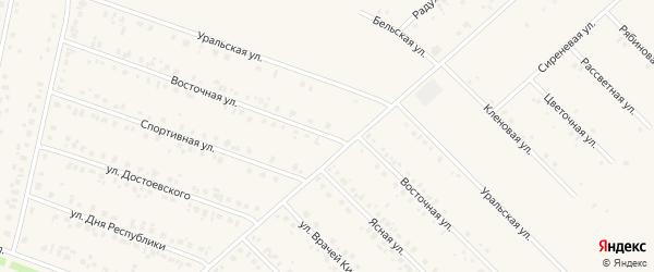 Восточная улица на карте села Бураево с номерами домов