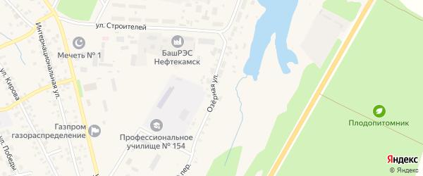 Озерная улица на карте села Бураево с номерами домов