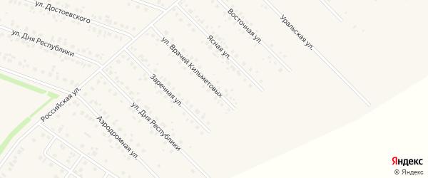 Улица Врачей Кильметовых на карте села Бураево с номерами домов