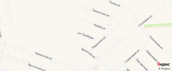 Улица Свободы на карте села Бураево с номерами домов