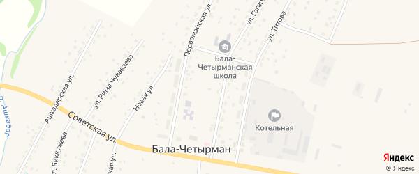 Улица Ахмерова на карте села Балы-Четырмана с номерами домов