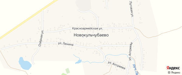 Лесная улица на карте села Новокульчубаево с номерами домов