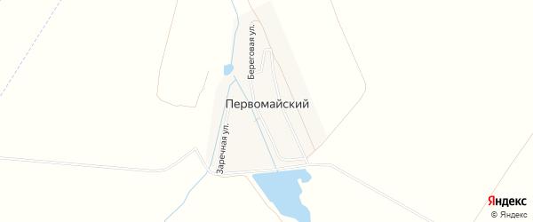 Карта деревни Первомайского в Башкортостане с улицами и номерами домов