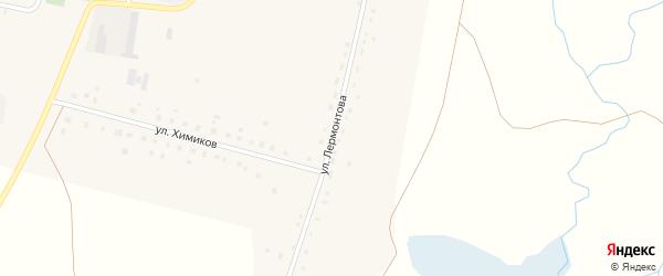 Улица Лермонтова на карте Первомайского села с номерами домов
