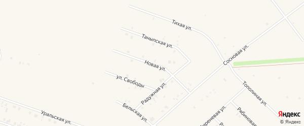 Новая улица на карте села Бураево с номерами домов