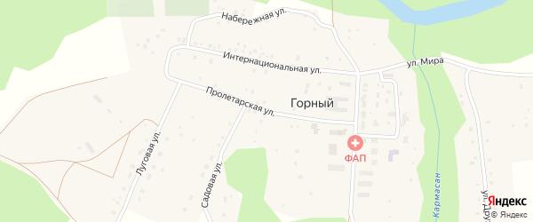 Пролетарская улица на карте села Горного с номерами домов