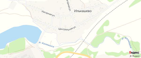 Центральная улица на карте села Илькашево с номерами домов