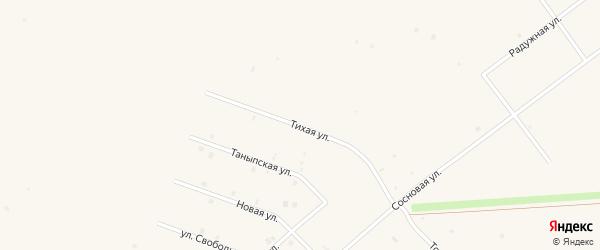 Тихая улица на карте села Бураево с номерами домов