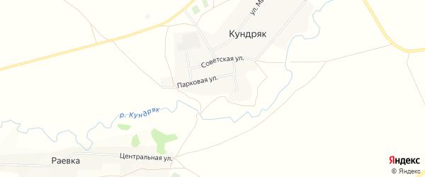 Карта села Кундряк в Башкортостане с улицами и номерами домов