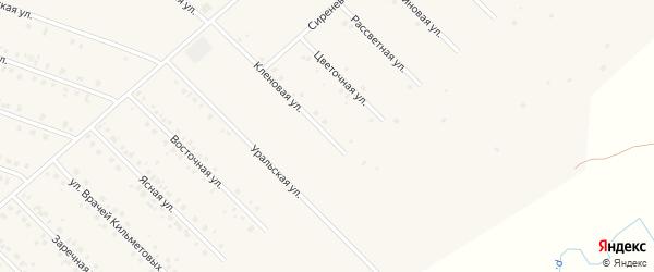 Кленовая улица на карте села Бураево с номерами домов