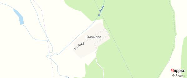 Карта села Кызылги в Башкортостане с улицами и номерами домов